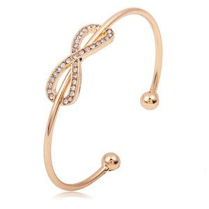 Infinity Bangle Bracelet Lucky Number 8 Chain